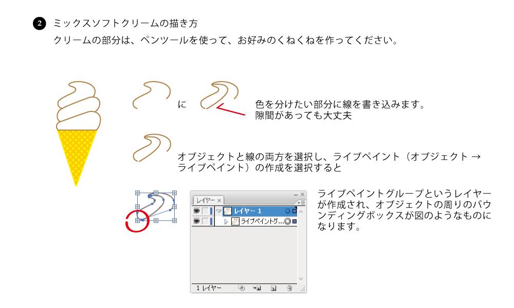 ライブペイントを使って、オブジェクトを分割し、色を塗る方法
