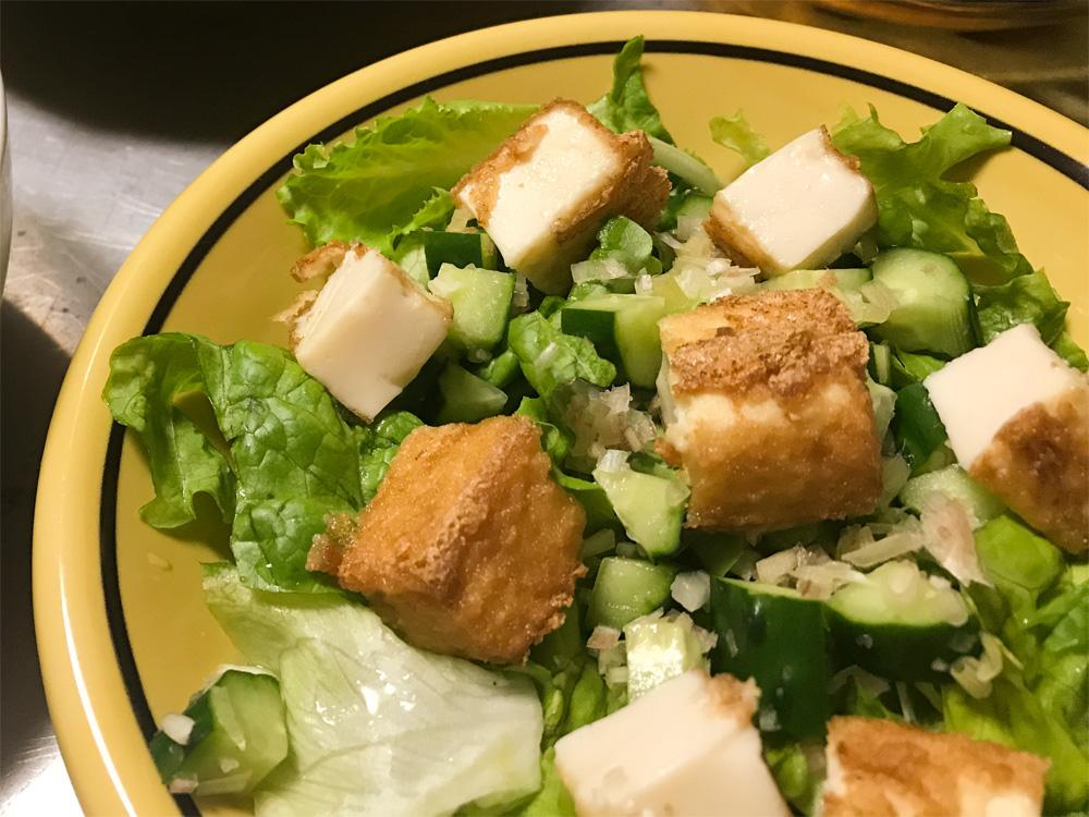 厚揚げを使った簡単サラダ